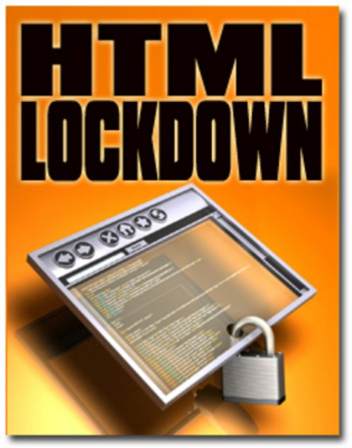 Pay for **NEW** HTML Lockdown Software With Resale 2011