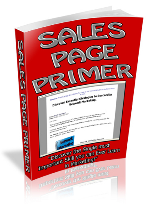 Pay for *NEW* Saler Page Primer With Master Resale 2011