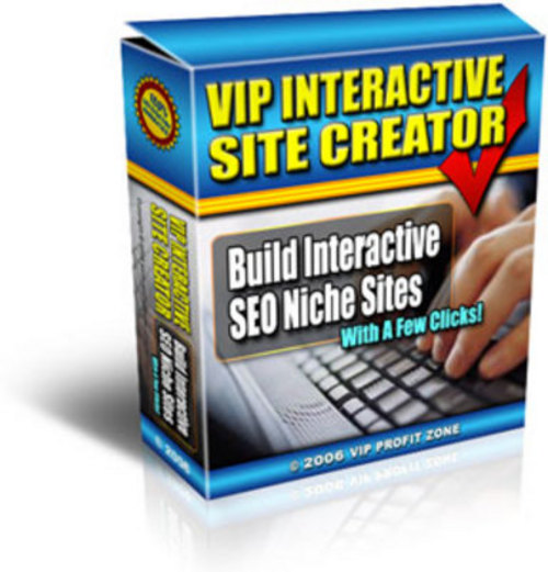 Pay for *NEW* VIP Interactive Site Creator 2011