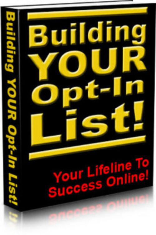 Pay for *New* Building Your Optin List 2011