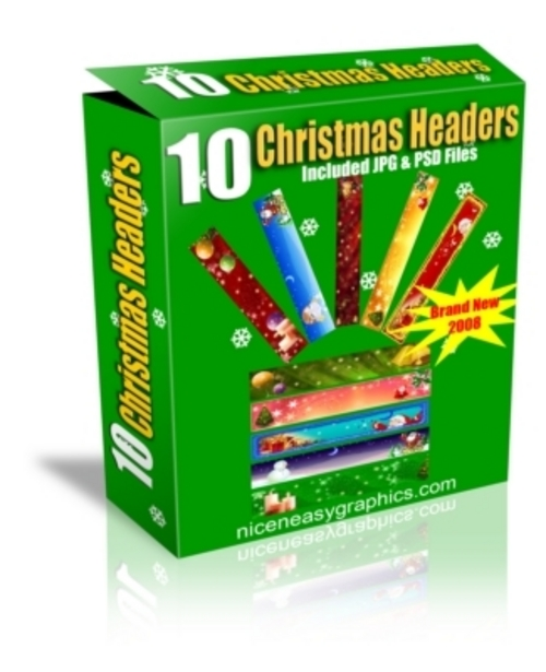 Pay for *NEW* 10 ChristmasHeaders 2011