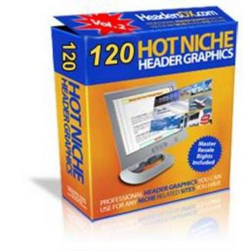 Pay for *NEW* 120 Hot niche headers Graphics With Private Label 2011