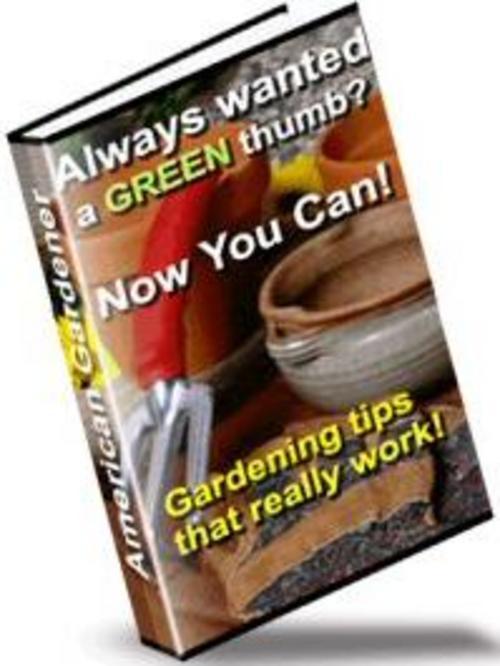 Pay for *NEW* American Gardener Gardening Tips 2011