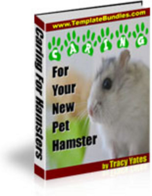 Pay for *New* Hamster Care With Master Resale Righ. 2011