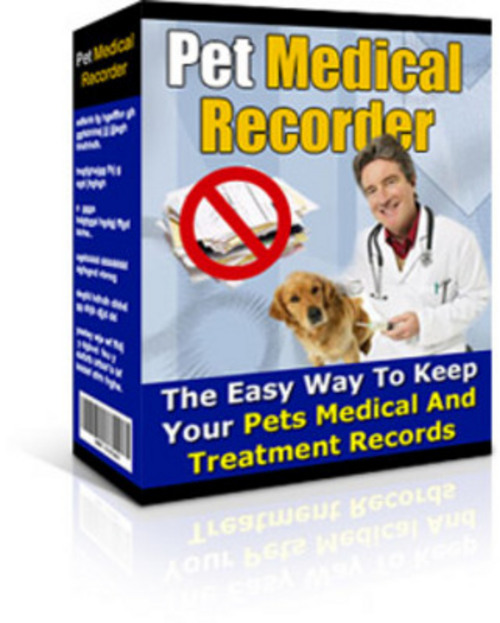Pay for *New* Pet Medical Recorder With MRR 2011