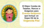 Thumbnail Moldes para Cajas, Tarjetas, Envolturas, Kit Virgencita Plis