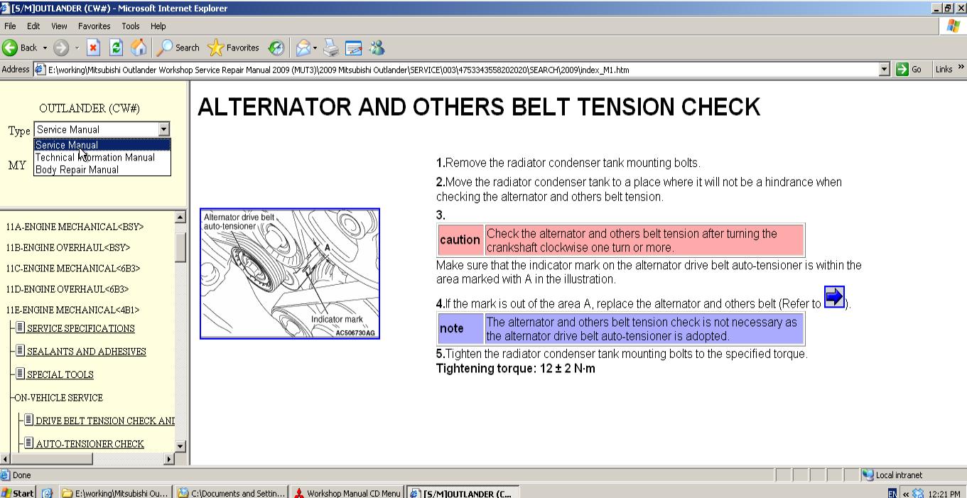Mitsubishi Outlander Workshop Service Repair Manual 2009 (MUT3) (54...