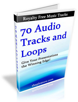 Pay for 70 Royalty Free Music Tracks *PLR free music for videos*