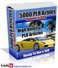 Thumbnail Gran Pack de 5000 Articulos PLR en Ingles