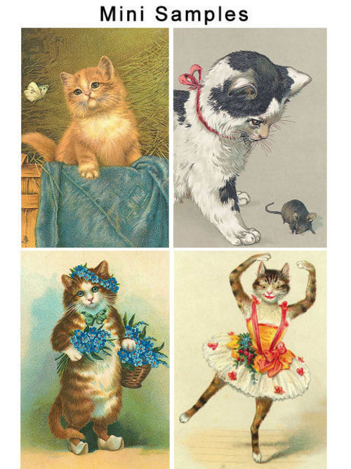 Pay for Vintage Cats Images 100