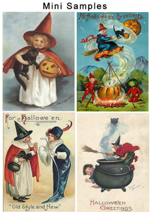 Pay for Vintage Halloween Card Images 1,700