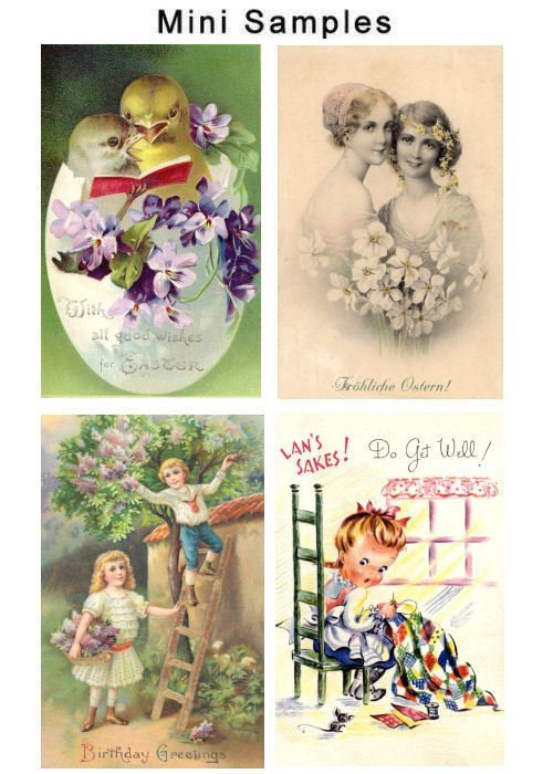 Pay for Vintage Cards Images 400