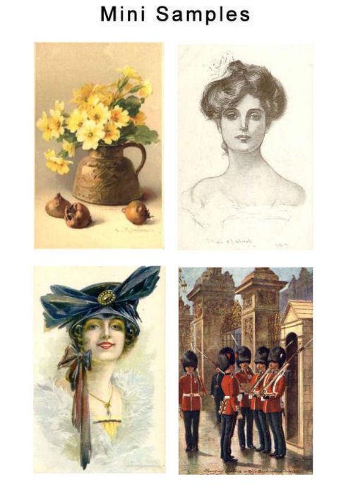 Vintage Postcard Art Images Set1 over 3,000 Images