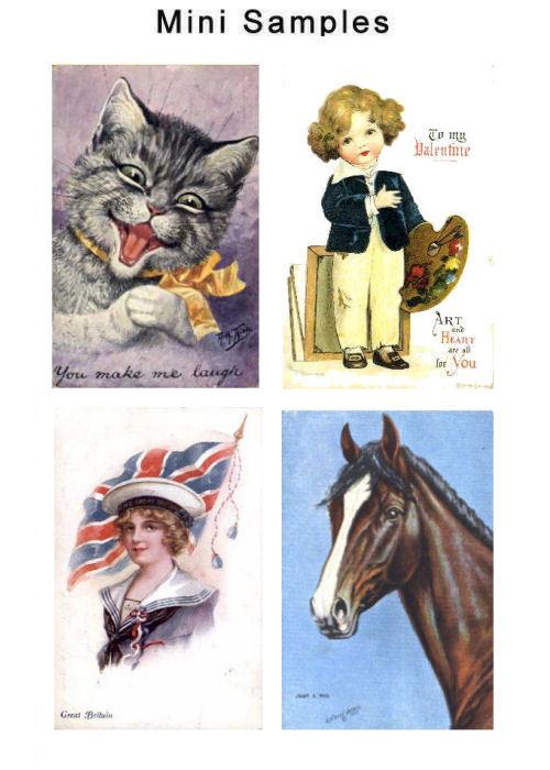 Pay for Vintage Postcard Art Images Set2 over 3,000 Images