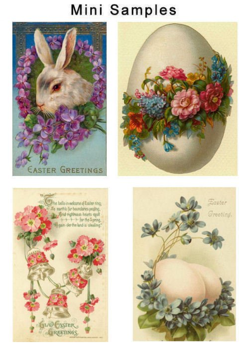 Pay for Vintage Easter Cards Images Set1 1,000
