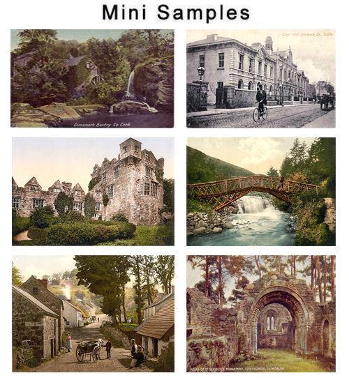 Irish Vintage Postcard Photos 500 images
