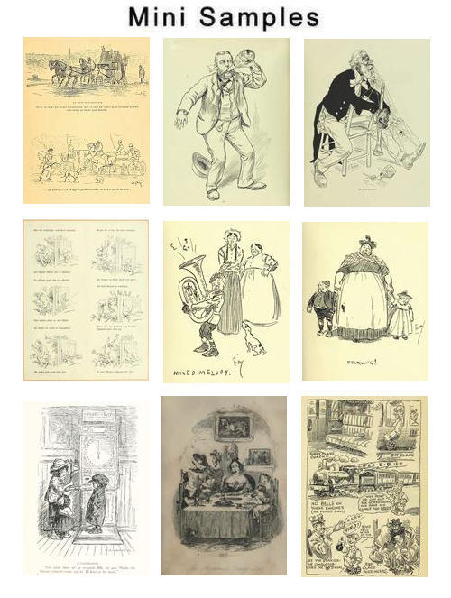 Pay for Humorous sketches Illustrations Vintage Images HQ 712
