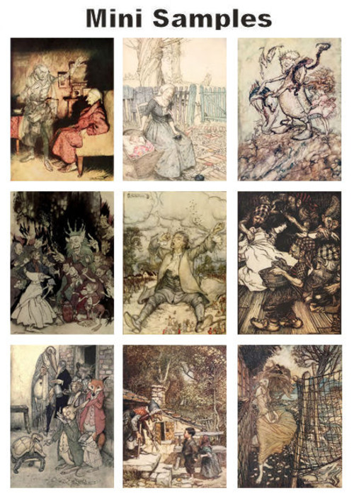 Pay for All about Arthur Rackham book illustrator vintage PDF books