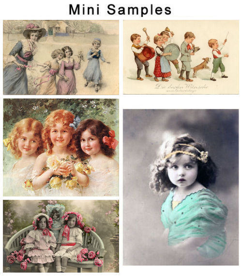 Pay for Collection of 2 files Vintage Children Images