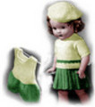 Thumbnail Sweater, Skirt and Step-In Knitting Patterns 18-Inch Doll