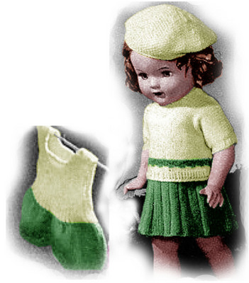 Sweater Skirt And Step In Knitting Patterns 18 Inch Doll Downloa