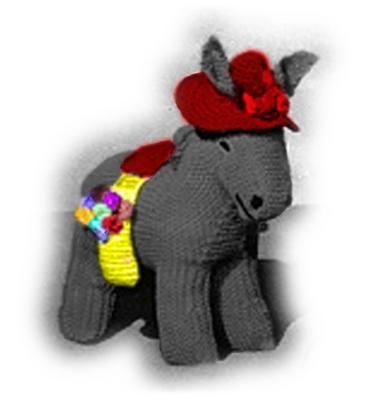 Pay for Donkey & Donkey Baby (Foal) Crochet Pattern - Stuffed Donkey