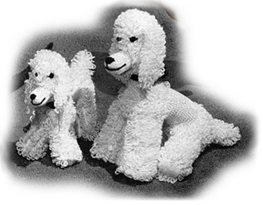 Pay for Poodle and Puppy Crochet Pattern - Stuffed Poodle (#107)
