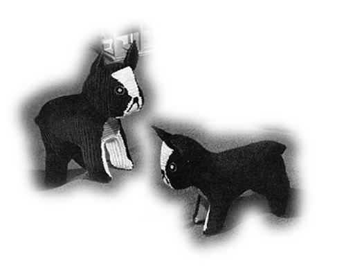 Pay for Boston Terrier and Puppy Knitting Pattern (#110)