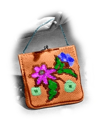 Knitting Pattern Evening Bag : Pay for Evening Bag with Flowers Knitting Pattern (#112)