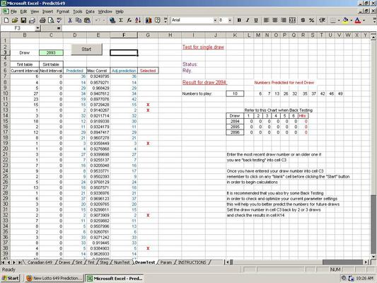 Pay for Predict Lotto 649 Winning Numbers - Excel Lottery Software