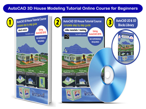 Pay for AutoCAD 3D House Modeling Tutorial Online Training Course