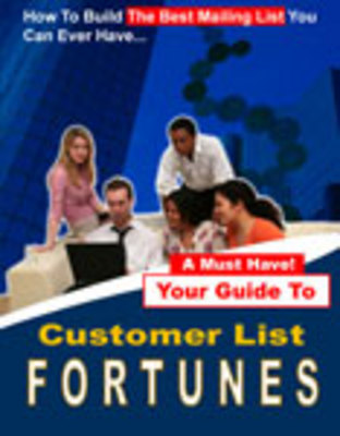 Pay for Customer List Fortunes-Make Money With Email Marketing
