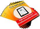 Thumbnail Home Organization - 50 High Quality PLR Articles