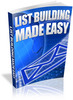 Thumbnail List Building Made Easy -  PLR Ebook