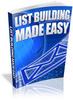 Thumbnail List Building Made Easy -  PLR Ebook