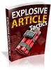Thumbnail Explosive Article Marketing Tactics PLR Ebook