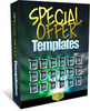 Thumbnail Special Offer Templates - Anniversary, Fire Sales
