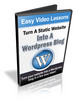 Thumbnail Turn A Static Website To WordPress Video Tutorials