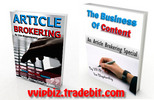 Thumbnail Article Brokering : Business Blueprint with Transferable Master Resale Rights