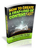 Thumbnail How To Generate a Crapload of Quality Content Fast