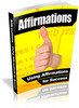 Thumbnail Using Affirmations For Success PLR Ebook By Rachel Goodchild