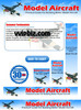 Thumbnail Model Airplanes Aircraft Minisite Templates Plr Pack