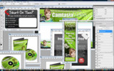 Thumbnail  Camtasia Video Marketing Minisite Template PSD graphics
