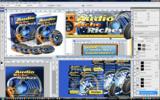 Thumbnail Music Audio Niche Riches Minisite Template PSD graphics