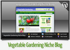 Thumbnail Vegetable Gardening Niche Blog With Instructional Videos