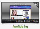 Thumbnail Acne Niche Blog With Instructional Videos