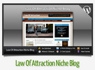 Thumbnail  Law Of Attraction Niche Blog With Instructional Videos