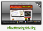 Thumbnail Offline Marketing Niche Blog With Instructional Videos