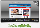 Thumbnail Stop Snoring Niche Blog With Instructional Videos
