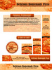 Thumbnail Homemade Pizza Recipes Website Template Plr Pack